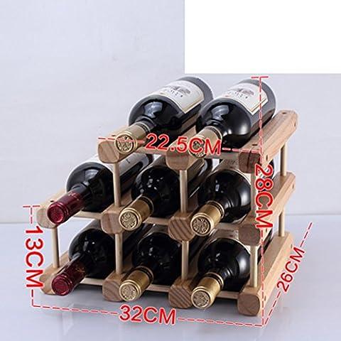 botellero de madera/estante del vino creativo/pino Decoración/muebles de estilo-I