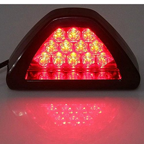 Tradico® 12V Car 12 LED Warning Rear Tail 3rd Third Brake Stop Light LED Lamp Kit