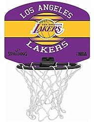 Spalding NBA Miniboard la Lakers 77-656Z Minicanasta, Unisex, Multicolor, Talla Única