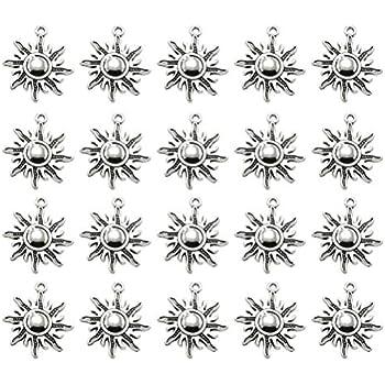 FENICAL 20pcs Alliage Plume pendentifs Breloques Collier Bricolage Bracelet Fabrication de Bijoux Accessoires Argent