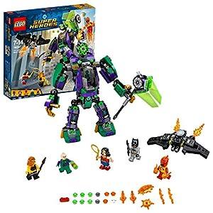 LEGO 76097 DC Comics Lex Luthor Mech Battle Playset, The Justice League, Figures incl. Batman Wonder Woman and Firestorm, Bat-Glider, Superhero Toys for Kids
