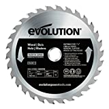 Evolution Power Tools - Build RAGEBLADE185WOOD Wood Carbide-Tipped Blade, 185 mm - Multi