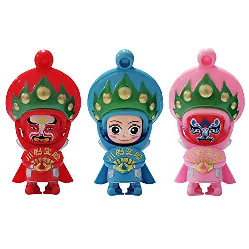 Preisvergleich Produktbild B5645ellsCreative Mini Chinese Sichuan Opera Figur Gesicht ändern Puppe Stressabbau Spielzeug - zufällige Farbe