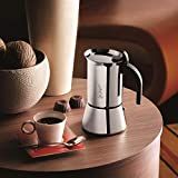 Bialetti Venus 10-Cup Italian Coffee Maker for Induction Hob, Stainless Steel, Silver