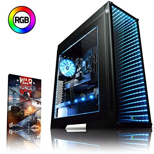 Vibox Genesis GR770T-7 Dekstop PC da Gaming, Processore Ryzen 7, HDD da 1000 GB, RAM da 8 GB, Nvidia GeForce GTX 1070 Ti, Nero