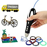Printing Intelligent 3D Pen for Kids, Pack of 1 Pen and 1.75mm PLA