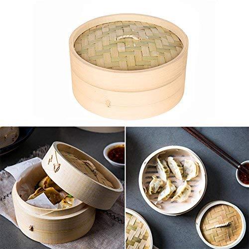 Natürlicher Bambusdampfer-Korb, chinesischer Dampfer für das Kochen des Lebensmittels -