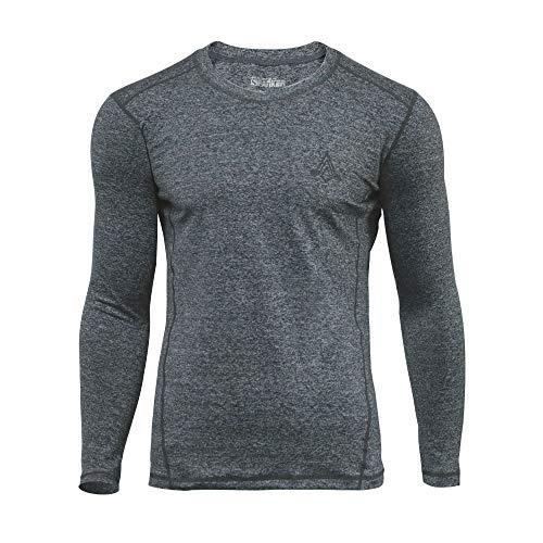 Feuchtigkeit Wicking Hemd (EXCELLENT ELITE SPANKER Herren Lange Ärmel T-Shirt Feuchtigkeit Wicking Sportlich Hemden Sport Hemden Dicker Abschnitt(BGY-S))
