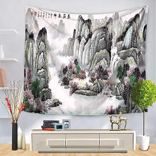 jzxjzx Tapisserie landschaftsmalerei gedruckt wandbehang tischdecke 4 150 * 200 -
