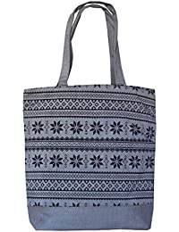Style And Culture Cotton Canvas Printed Eco-friendly Tote Bag (Color-Grey)