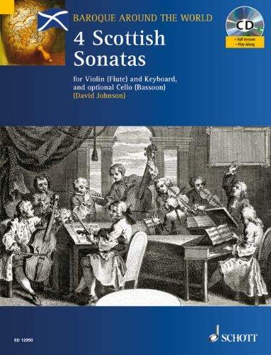 SCHOTT FOUR SCOTTISH SONATAS   VIOLIN AND PIANO  CELLO AD LIB