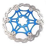Mountainbike Bremsscheibe 180mm Fahrrad Bremsscheibe, MTB schwimmende Scheibe 6-Loch kompatibel mit Avid, Magura, Hayes, Tektro, Shimano uvm (Blau, 180mm)