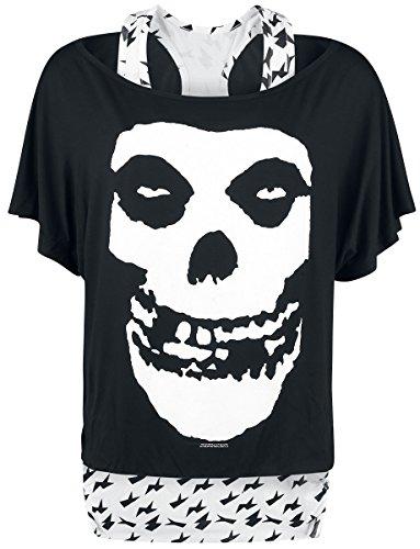 Off the Shoulder T-Shirt (Unisex-Xxl) Skull Off the Shoulder (Black)