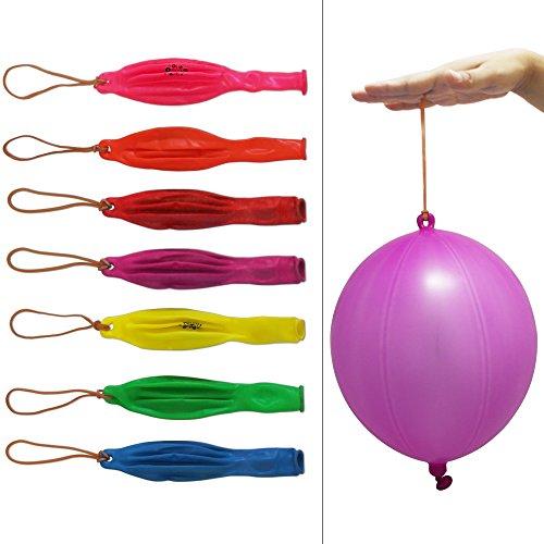 0,5cm Punch Luftballons mit Elastic Bands für Party Hochzeit Festival (Punch-ballon)