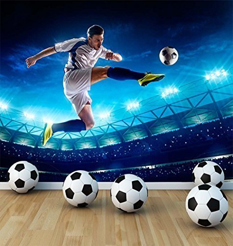 Awesome Football Soccer Player Wall Mural Photo Wallpaper Boys Kids Bedroom  Playroom Football Stadium (X Large 1900mm X 1488mm): Amazon.co.uk: Kitchen  U0026 Home