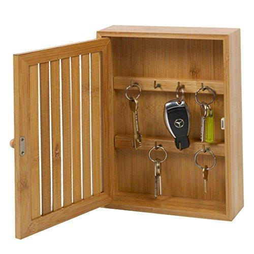Bamboo armadietto cassetta portachiavi e staffe armadio ganci Holder Storage