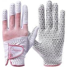 Henzzle guantes de golf de las mujeres ambas manos (rosa, M)