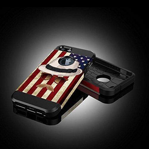 Für iPhone 6 / 6s Camouflage Muster PC + TPU Bunte Rüstung Hard Case DEXING ( SKU : S-IP6G-6683J ) S-IP6G-6683D