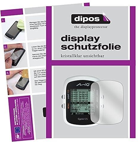 Mitac Mio Cyclo 105 HC Schutzfolie - 3x dipos Displayschutzfolie Folie klar