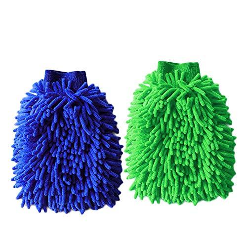 Antimikrobielle Waschen (LIWEISDSDFS Zufällige Farbe Auto Waschen Auto Doppelseitige wasserdichte Chenille-Handschuhe Lappen Korallen Plüsch Verdickung Sowie Samthandschuhe Autowaschanlagen 10 Stück)