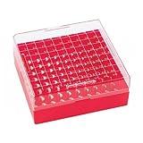 Wheaton W651700-R Contenitore per Congelatore in Plastica Wheaton Keepit-100, Confezione da 100, Rosso