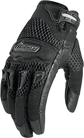 Icon 29er Ladies Motorcycle Summer Gloves (Black, S)