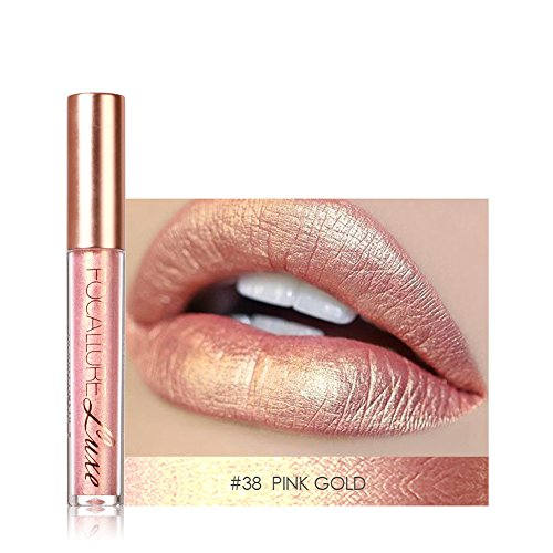 Allbesta Metall Lippenstift Metallic Lipgloss Glitzer Schimmer Lip Gloss Liquid Lip Liner Make up