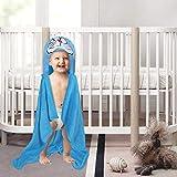 Kassy Pop Animal Hooded Baby Bath Towels/Blankets - Plush Organic Microfiber Fleece, Soft