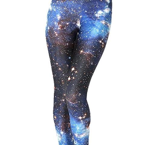 MONIKEEN Galaxy Leggings imprimé Femme Taille Unique
