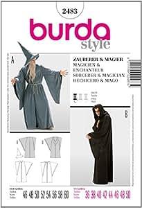 Burda B2483 Patron de Couture Magicien et Enchanteur 19 x 13 cm