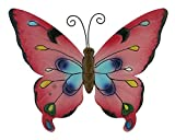 Metall Wandhänger Schmetterling 26 x 31cm (pink)