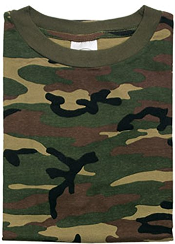 T-SHIRT TARN WOODLAND Größe 3XL (Army Woodland Baumwolle Tarn T-shirt)