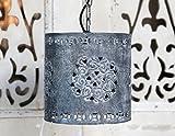 Lampe Hängelampe Deckenlampe Zink grau Shabby Landhaus Nostalgie Chic Antique