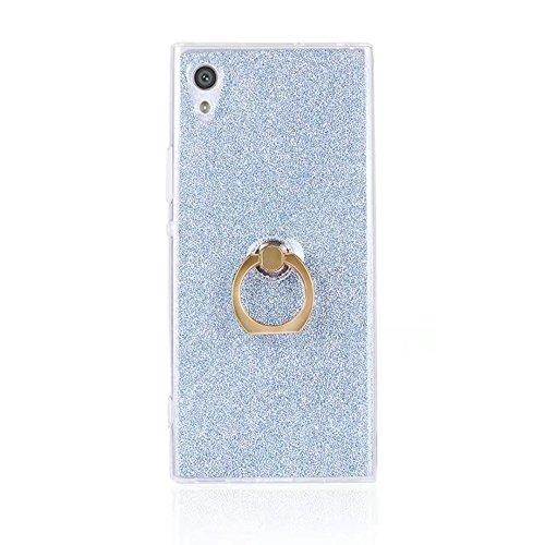 Soft Flexible TPU Back Cover Case Shockproof Schutzhülle mit Bling Glitter Sparkles und Kickstand für Sony Xperia XA1 ( Color : Pink ) Blue