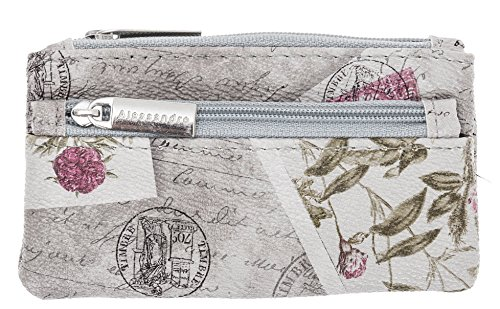 Börse ALESSANDRO SALVATORE Romantic Schlüsselmäppchen Minibörse Kunstleder (Etui KEYS 2064 / Grau)