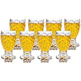 King International 100% Crystal Clear Pineapple Shaped Whiskey Glasses | Drinking Glass | Set of 8 Pieces| 250 ml Each
