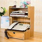 Q-ZHI Mode Multifunktions-Mehrschicht-Schublade Büro Desktop Storage Regale/Racks Router Telefon Holz Lagerregal