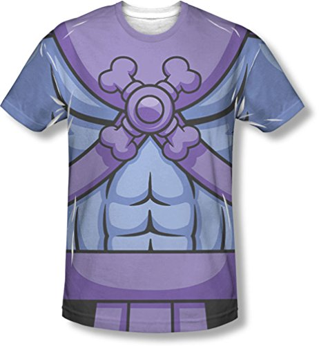 Official Masters Of The Universe Mens Skeletor Costume T-Shirt - S to XXXL. A low cost alternative to the full costume.