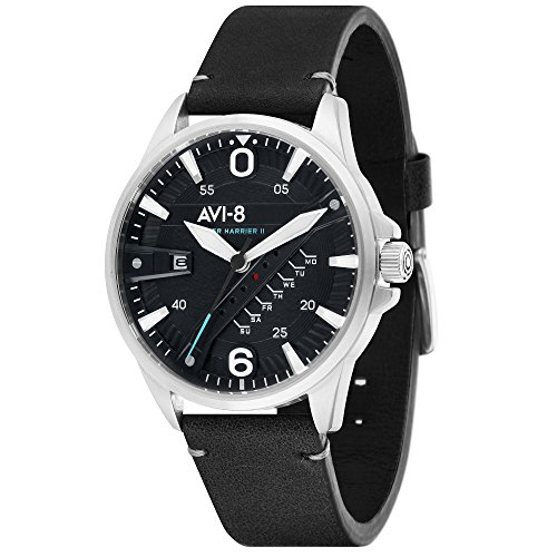 Hawker Harrier II AV-4055-02 Men's Watch – AVI-8 – Leather – 42 mm