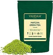 VAHDAM, polvo de té verde Matcha (50 g, 25 tazas), polvo de Matcha japonés puro y sin mezclar 100% certificado