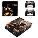 Playstation 4 Pro + 2 Controller Aufkleber Schutzfolien Set - God of War (1) /PS4 P