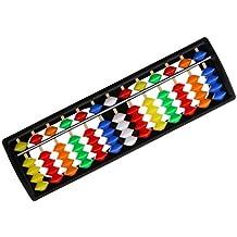 Gazechimp 13/15 Varillas Ábaco de la Columna de Granos Abacus Soroban Calculadora Juguetes Educativos - 13 Varillas Colorido