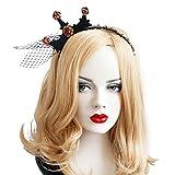 Bluelover Halloween Party Crown Hairwear Giocattoli Vintage Ragazza Tiara Moda Pizzo Maglie Bande