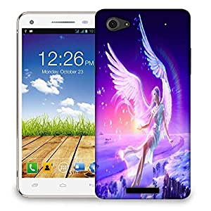 Snoogg Angels Fantasy Designer Protective Phone Back Case Cover For Micromax Canvas Hue 2 A316