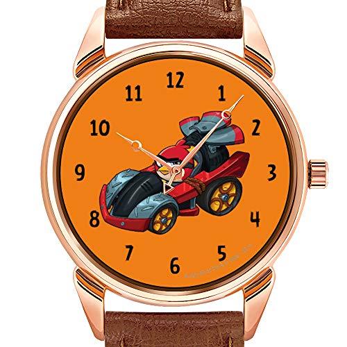 Herrenuhren Fashion Luxury Quarzuhr Business Waterproof Luminous Watch Herrenuhr aus braunem Leder Red's Super Roaster Armbanduhren Red Roaster