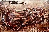 Kübelwagen Geländewagen 2. Weltkrieg Blechschild Metallschild Schild gewölbt Metal Tin Sign 20 x 30 cm