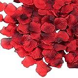 3000 Stück Rosenblätter Rosenblüten für Hochzeit Party und Romantische Atmosphäre (Rose Rot)