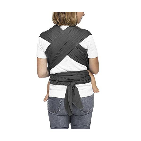 MOBY Evolution Baby Wrap Carrier for Newborn to Toddler up to 30lbs, Baby Sling from Birth, One Size Fits All, Breathable Stretchy Made from 70% Viscose 30% Cotton, Unisex Moby 70% Viscose / 30% Cotton Knit One-size-fits-all Grows with baby, from newborn to toddler 4