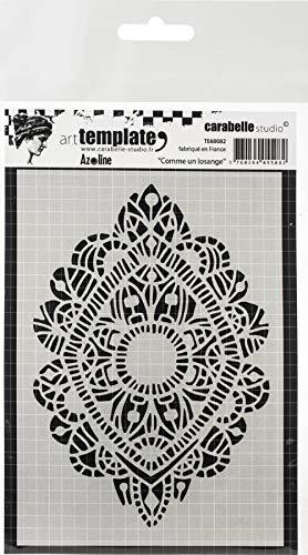 Carabelle Studio Art Template Schablone, wie ein Diamant zum gestalten von Gemusterten Hintergründen und Erstellen von Kunstwerken und Bastelprojekten -