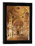Gerahmtes Bild von Konstantin Andrejewitsch Ukhtomsky Moskau, St. Alexander-Saal/Ukhtomsky, Kunstdruck im hochwertigen handgefertigten Bilder-Rahmen, 30x40 cm, Schwarz matt